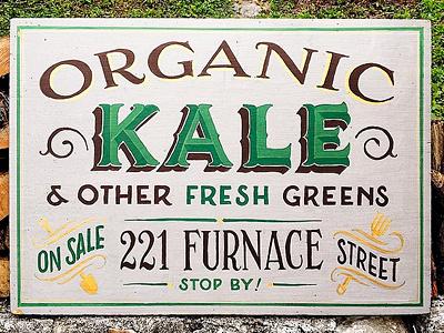Kale Sale Sign signpainting lettering