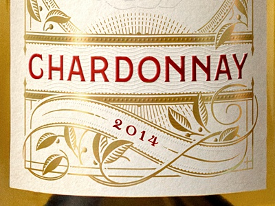 Chardonnay Label lettering illustration wip killed