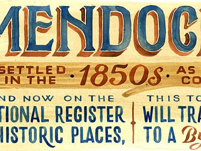 California Beach Towns editorial lettering