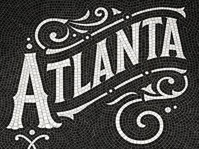 Atlanta Fauxsaic typography design atlanta mosaic fauxsaics handlettering lettering