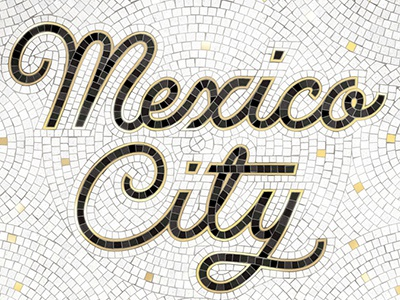 Mexico City Fauxsaic typography mosaic lettering handlettering fauxsaics design