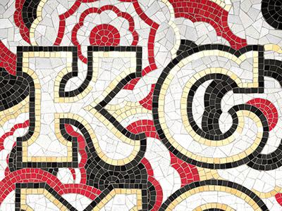 Kansas City Fauxsaic mosaic lettering kcmo handlettering fauxsaics design