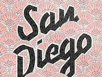 San Diego Fauxsaic handlettering fauxsaics mosaic lettering