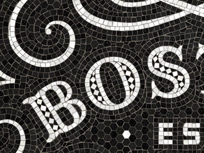 Boston Fauxsaic typography design fauxsaic mosaic handlettering lettering