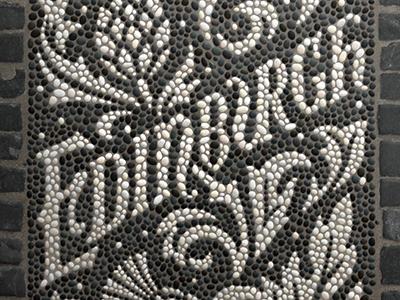Edinburgh Fauxsaic edinburgh handlettering lettering fauxsaic mosaic