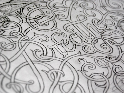 Remember To Breathe lettering typography sketch baroque