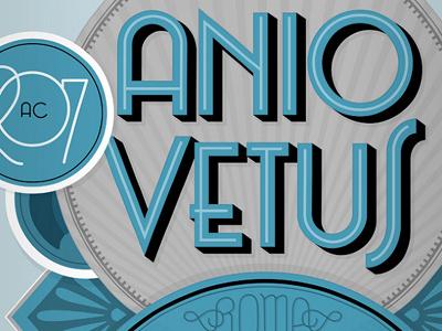 Anio Vetus lettering typography deco