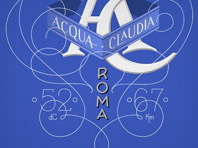 Acqua Claudia lettering typography victorian italian