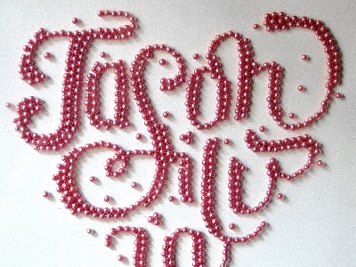 Jason & Silvia lettering candy typography
