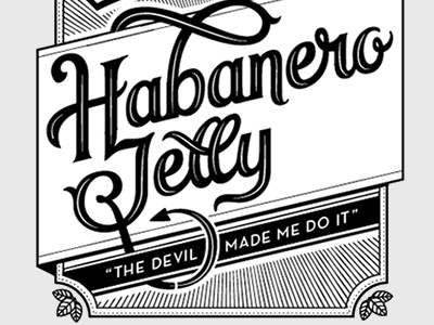 Habanero Jelly II lettering sketch packaging