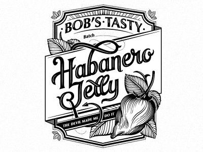 Habanero Jelly III lettering illustration packaging