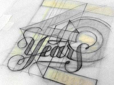 40 Year Anniversary II lettering 70s letterpress pratt
