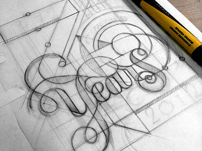40 Year Anniversary III lettering 70s letterpress pratt