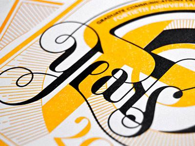 Pratt 40-Year Anniversary Bookplate lettering 70s letterpress pratt
