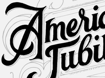 A.J. Logo Sketch (killed) lettering sketch logo american script