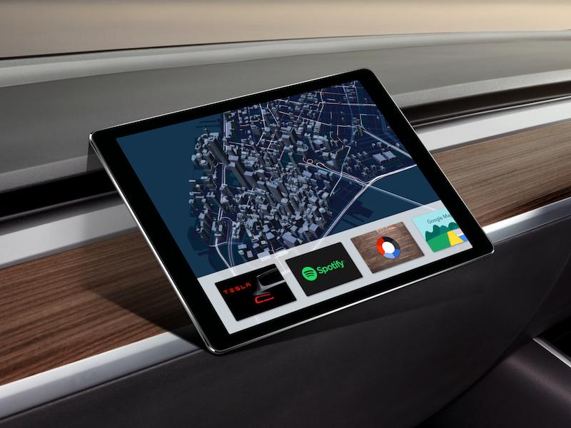 tesla model 3 dashboard concept by spencer camp dribbble