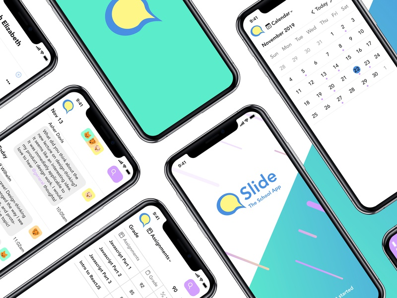 Slide, a Messaging App for Education app education interaction uiux ui