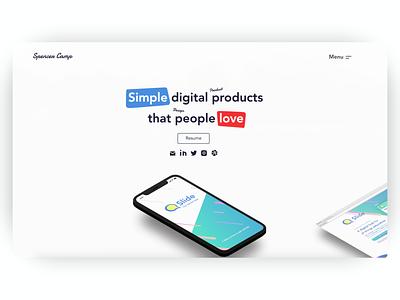 UX, Product Design Portfolio (spencercamp.com) interaction design product design web design portfolio