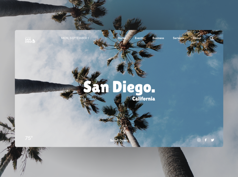City of San Diego | Site Redesign ux ui interaction design web design