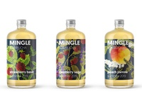 MINGLE kombucha | label and branding project by Mild Tiger
