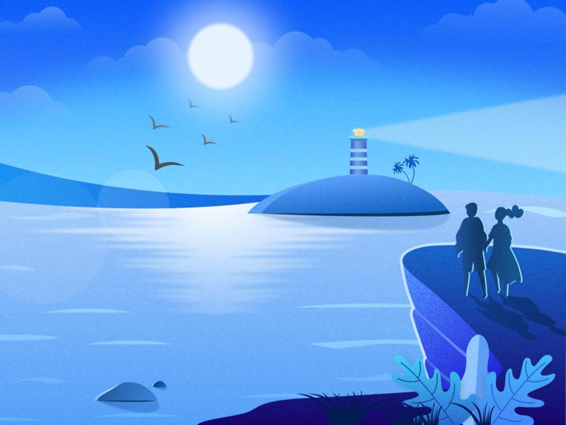 See The Sea ui illustration