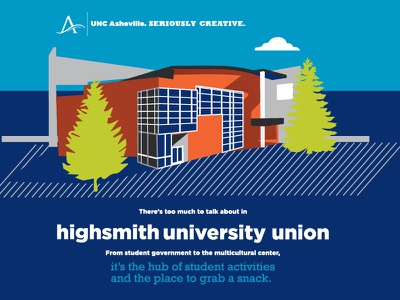 UNCA Building Illustration unca asheville building architecture
