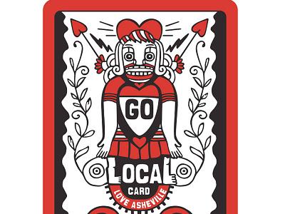 Go Local Card local card asheville cheerleader