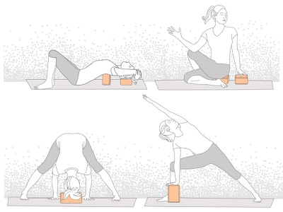 Halfmoon Yoga Block Infographic yoga infographic yoga block yoga pose