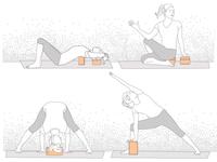 Halfmoon Yoga Block Infographic