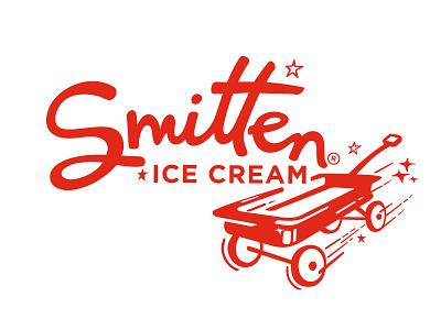 Smitten Ice Cream red wagon smitten logo ice cream