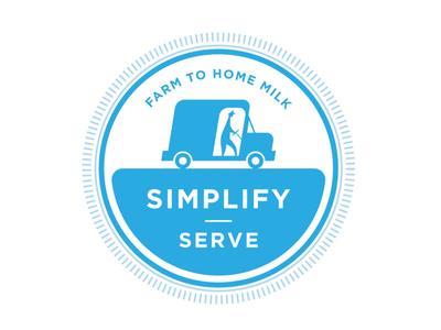 Farm to Home Milk seal truck logo delivery milk man milk