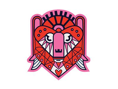 Bare Love illustration heart bear valentine