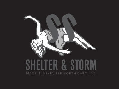 Shelter and Storm pulp fiction lady woman jewelry logo
