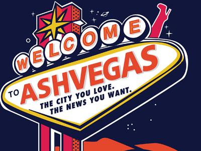 Ashvegas las vegas sign signage vintage sign boot