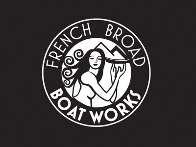 French Broad Boat Works lady boat mountain