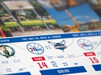 76ers Season Ticket Book Detail