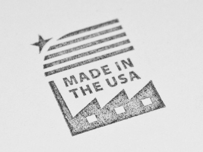Merican made stamp dribbble