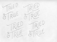 Tried and true logo sketches