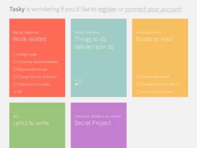 Tasky todo app task ui ux list color pastels to-do todo webapp