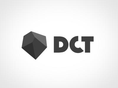 DCT Logo branding typo typography font logotype lowpoly polygons mark identity logo