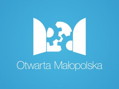 Otwarta Malopolska Logo typography blue minimal logotype logo identity branding