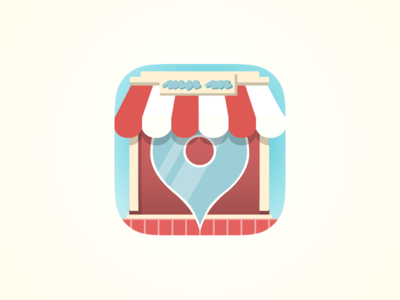 Pop-up Shop Icon icon ios location logo branding shop ecommerce identity illustration iosicon ios icon app icon