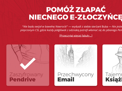 Scaleworks Code Europe Challange sketches mystery website polish event red