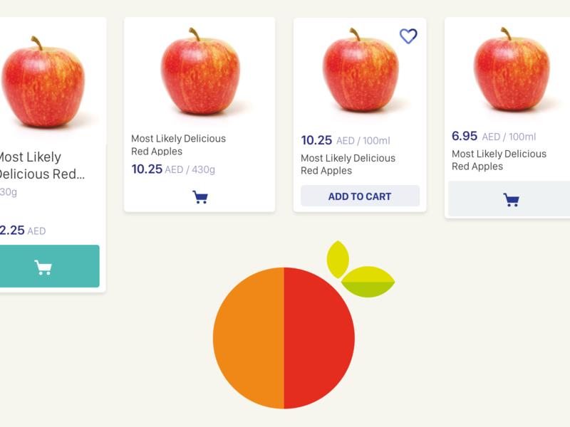 Soopa Product Tile button design favorites product card mobile app ecommerce design app ux ui