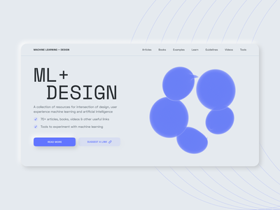 ML + Design minimal neumorphism collection machine learning ml artificial intelligence ai design web
