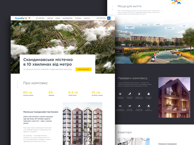 Scandia Main real estate web ui property building architechture