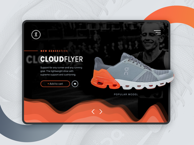 Webdesign/UI concept run shoes shoes store product shoes design ux brand branding ui minimal webdesign