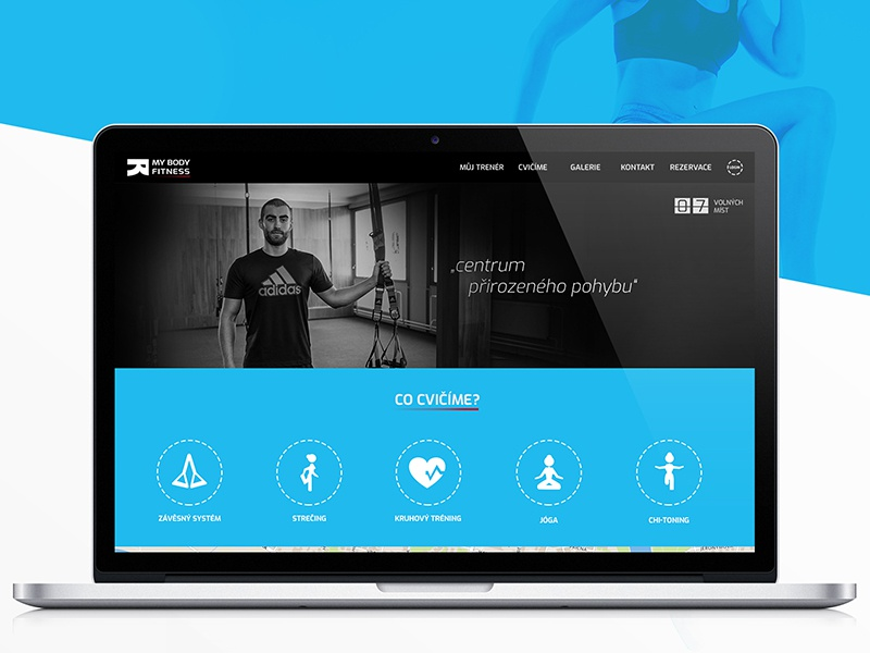 Webdesign: Fitness trainer, My Body Fitness - Gym czech republic trx health website landing page sport modern workout fitness webdesign