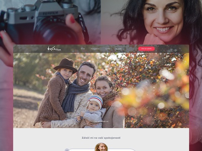 Webdesign - Portfolio for a freelance photographer sidlakova katerina responsive webdesign portfolio photographer