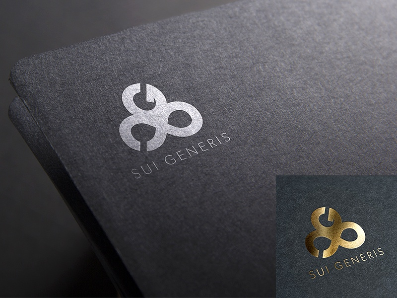 SUI GENERIS Luxury branding connect timelessness grandeur original infinity uniqueness luxury logo creative identity brand